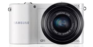 Samsung NX1000 Digital Compact System Camera - White (20.3MP, 20-50mm Lens Kit) 3.0 inch LCD