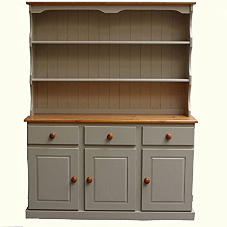 Wye Pine Cream Welsh Dresser - Finish Complete - Blue