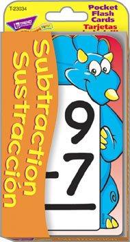 Subtraction/Sustracción Pocket Flash Cards