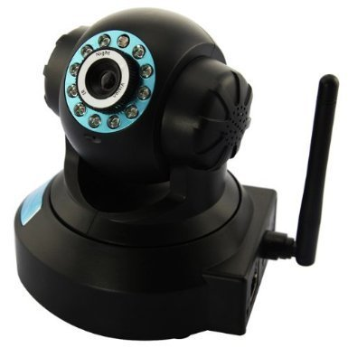 Frog-Tech New Ftl610W-P Indoor Wireless Wifi Cctv Support P2P Connection Ip Network Security Camera Pan/Tilt (Black Color)