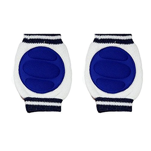 Breathable Unisex Infant Toddler Baby Kneepads Knee Pad Crawling Safety Protector Toddler Crawling knee -Dark Blue - 1