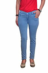 Ellis Light Blue Stretchable Slim Fit Poly Cotton Jeans with full length