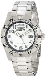 (青菜)Invicta 5249W 专业潜水员不锈钢白色表盘男士手表 $47.99
