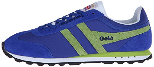 Gola Men's Boston Fashion Sneaker,  Reflex Blue/Lime, UK 8/9 M US