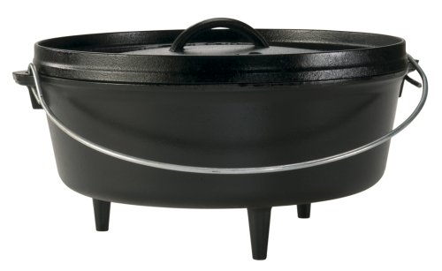 Lodge Original Finish 6-Quart Cast-Iron Camp Dutch Oven