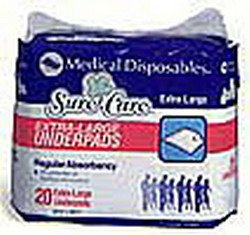 Surecare Disposable Underpad - 17 X 24 In. - Pack Of 36 front-683659