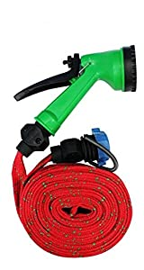Accedre 23205 10 meter Multifunctional Water Spray Pipe with Jet Gun  Orange  available at Amazon for Rs.164