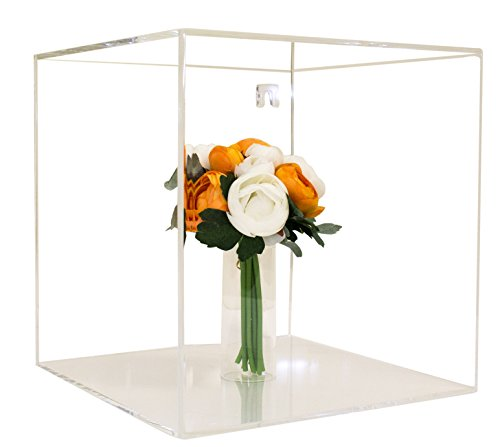 Deluxe Clear Acrylic Wall Mount Collectible Wedding Bouquet Display Case with UV Protection (A031)