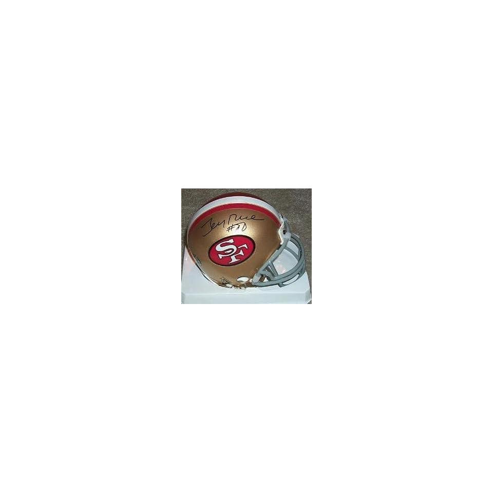 Jerry Rice Autographed Mini Helmet