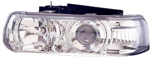Depo 335-1119PXAS Chrome Headlight Projector Assembly (Projector Chrome Headlight compare prices)