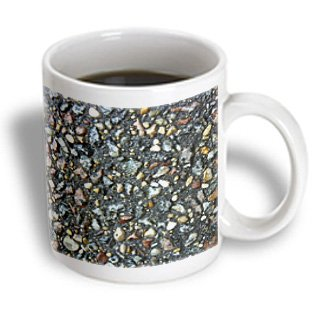 Florene Designer Texture - Colored Stones In Black Concrete - 11Oz Mug (Mug_46587_1)