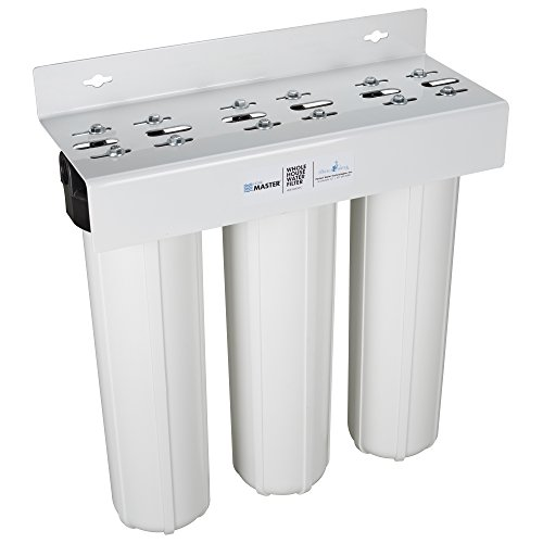 Home Master HMF3SDGFEC Whole House 3 Stage Water Filtration System with Fine Sediment, Iron and Carbon, White