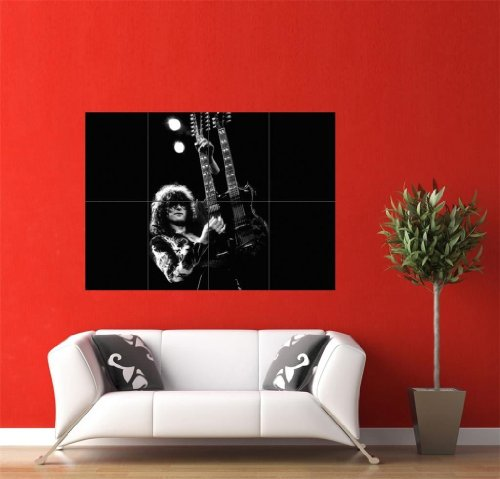 Jimmy Page Led Zeppelin Giant Wall Poster Picture Jm215