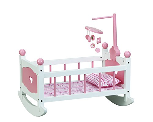 Beverly Hills Doll Cradle with Mobile & Bedding - Fits American girl 18'' Doll (Cradle Mobile compare prices)