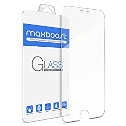 iPhone 6S Plus Screen Protector, Maxboost [Tempered Glass 3D Touch Compatible]0.2mm iPhone 6S Plus Glass Screen Protector Work with iPhone 6 Plus / 6S Plus and Protective Case [Lifetime Warranty]