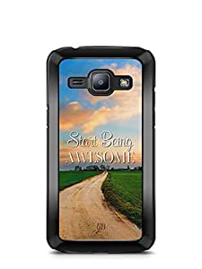 YuBingo Start Being Awesome Designer Mobile Case Back Cover for Samsung Galaxy J1
