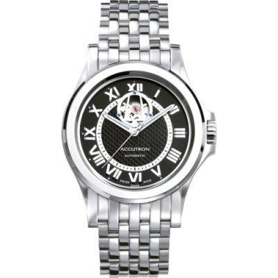 Accutron Men's 26A09 Gemini Automatic Skeleton Window Watch