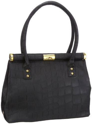Friis & Company Gobi Handbag 1240241, Damen Shopper, Schwarz (Black 001), 34x28x15 cm (B x H x T)