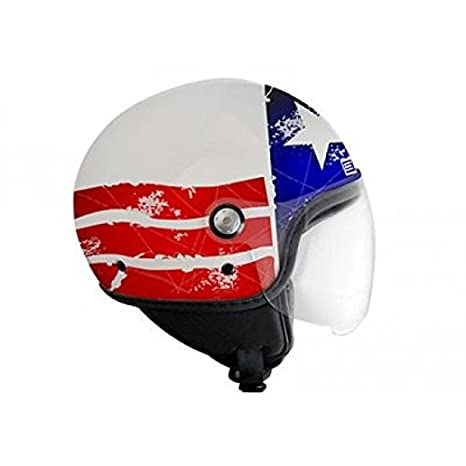 OR008056 - Casque Origine Mio Stars & Stripes Mat Blanc/Rouge/Bleu Xl