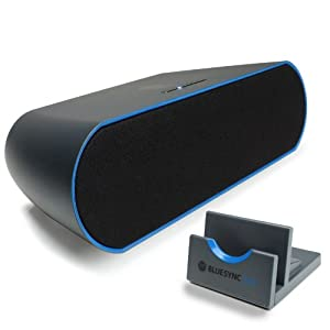 GOgroove BlueSYNC STX Portable Bluetooth Wireless Stereo Speaker System w/ Display Dock Stand for Google Nexus 7 FHD , Samsung Galaxy S4 , Tab 3 , Note , HTC One & More Tablets & Smartphones
