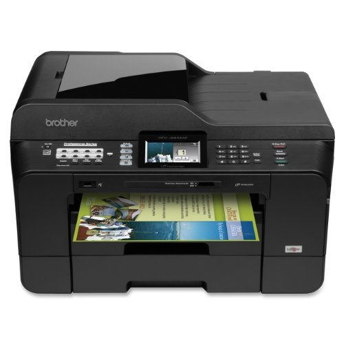 Brother Mfcj6910Dw Business Inkjet All-In-One Printer With 11-Inch X 17-Inch Duplex Printing, Scan Glass, Dual Paper Trays And Touchscreen