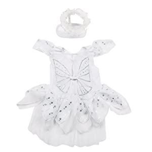 Casual Canine Angel Paws Dog Costume, X-Small, White