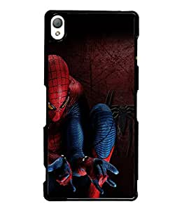 Fuson Spiderman Back Case Cover for SONY XPERIA Z3 - D3693