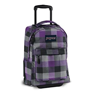 Wheeled Superbreak Carry - On Cabin Size Hand Luggage (grey tar purple parsons plaid)