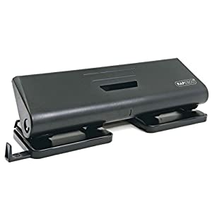Rapesco 75-P 4-Hole Punch, 16 sheet Capacity - Black