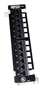 Tripp Lite 12-Port Wallmount Cat5e Patch Panel 568B, RJ45 Ethernet(N050-012)