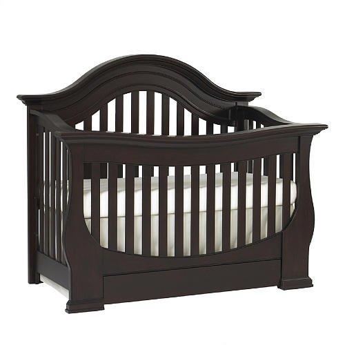 Baby Cache Monaco Lifetime Convertible Crib Espresso front-942175