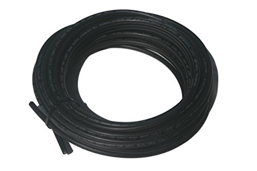 50' solar cable Bulk Black copper #10 AWG 1000 volt PV Wire with Tough XLPE insulation (Solar Panel Wire compare prices)