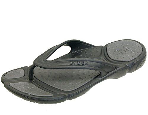 [クロックス] crocs crocssoft flip men 15696 02S【ブラック】 クロックスソフト フリップ メン サンダル メンズ (M10(28cm))