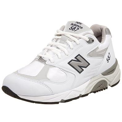 New Balance Women's W587 Running Shoe,White/Grey,5 AA