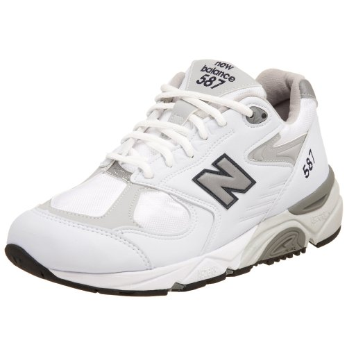 New Balance Women's W587 Running Shoe,White/Grey,7 B