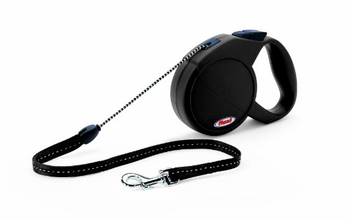 Flexi Explore Retractable Cord Dog Leash, Medium, 23-Feet Long, Supports up to 44-Pound, Black