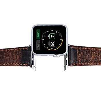 V-Moro Apple Watch leather Band, 42mm Genuine Leather iWatch Strap Vintage Crazy Horse Replacement Smart Watch wristband for for Apple Watch iWatch All Models (Vintage Crazy Horse-Coffee 42mm)