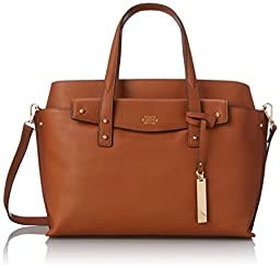 Vince Camuto Ilya Leather Satchel Shoulder Bag, Umber, One Size