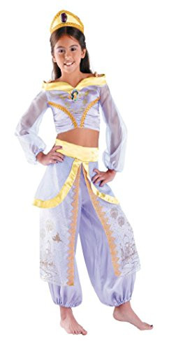 Girls Jasmine Prestige Kids Child Fancy Dress Party Halloween Costume
