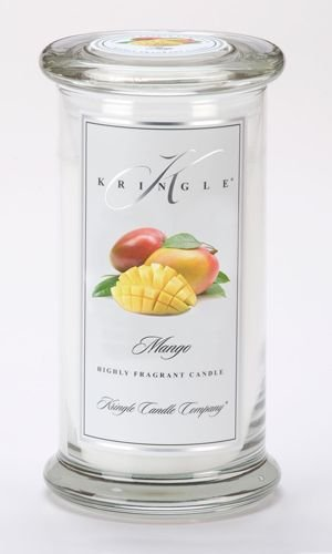 MANGO Large Classic 95 Hour Apothecary Jar Candle by Kringle Candles