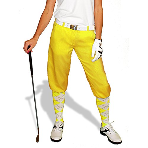 Yellow Golf Knickers: Womens 'Par 3' - Microfiber