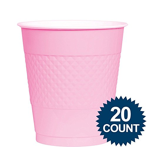 New Pink Plastic Cups 12 Oz 20 Ct [1 Retail Unit(s) Pack] - 43036.109
