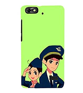 EPICCASE Pilot and air hostess Mobile Back Case Cover For Huawei Honor 4C (Designer Case)