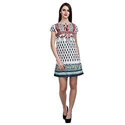 Mansi Collections Women's A-line Multicolor Dress (Small)