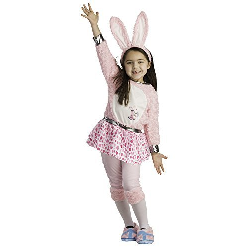 [Toddler Energizer Bunny Dress Costume - Size Small 4-6 by Dress Up America] (Energizer Bunny Costumes)