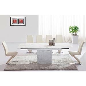 Table manger table de salle manger extensible zeus - Table de salle a manger en marbre ...