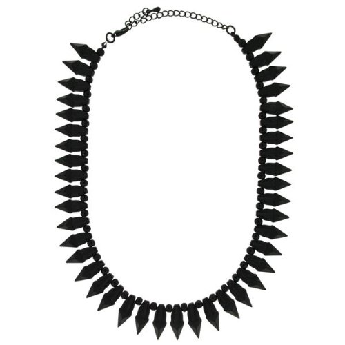 Sweet Deluxe Damen-Halskette Messing Rocky matt schwarz 2814