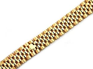 Ladies 18ky All Gold Jubilee Watch Band for Rolex 13mm