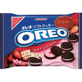 Nabisco Oreo Soft Cookies Strawberry (1 Package)