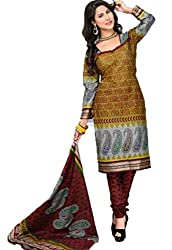 Vivacity Women's Cotton Unstitched Dress Material (GB-16_Multi_Free Size)